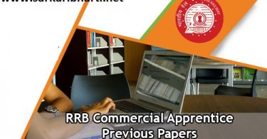 RRB Commercial Apprentice Syllabus
