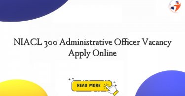 niacl 300 administrative officer vacancy apply online