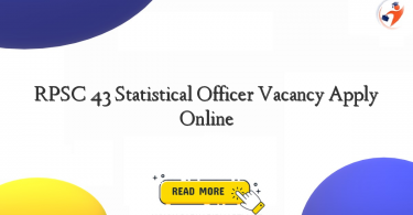 rpsc 43 statistical officer vacancy apply online